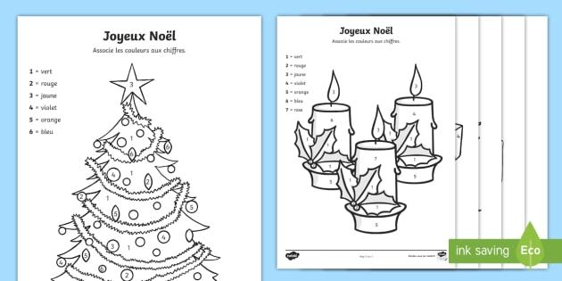 Coloriage magique : Joyeux Noël ! (teacher made)