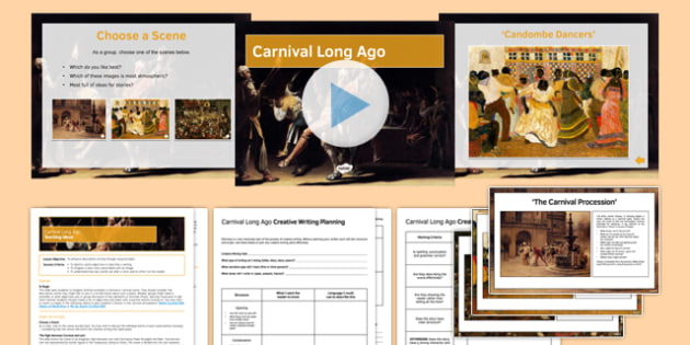 Carnival Long Ago Lesson Pack - Carnival, Lent, Writing, creative writing, KS3, KS4, Venice, Easter, writing prompts, paintings