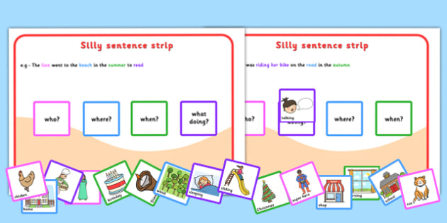 Silly sentences sentence making sentence form sentence game ccuart Image collections