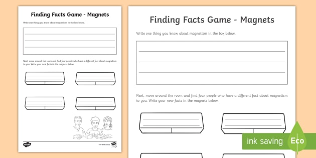 Magnets Fact Finding Worksheet / Worksheet - ACSSU076. Magnetic ...