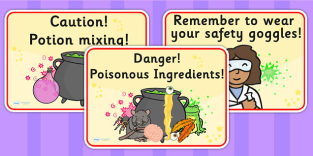 Potion Lab Signs - potions, science, science display, sign, label