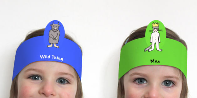 Role Play Headbands to Support Teaching on Where the Wild Things Are - roleplay, props