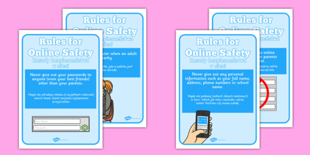 Internet Safety Display Posters Polish Translation - polish, internet safety display banner, internet safety, safety, security, display, banner, sign, poster, internet, computer, web, homepage