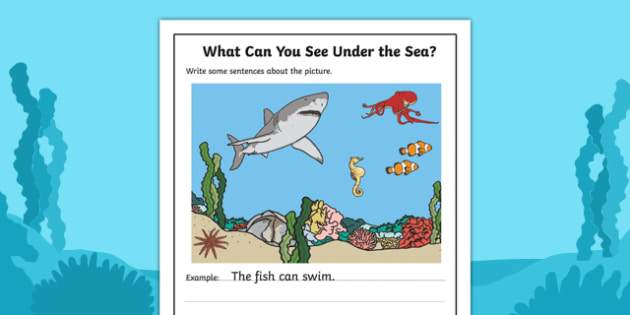 Under the Sea Writing Stimulus Picture
