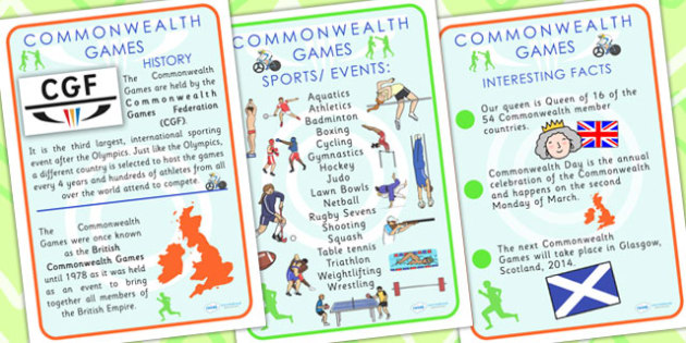 The Commonwealth Games Glasgow 2014 Information Posters - sport