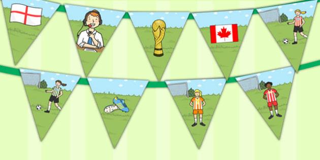 Womens Football World Cup 2015 Bunting - bunting, football, 2015
