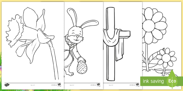 FREE! - Easter Colouring Sheets - Primary Resources for KS1