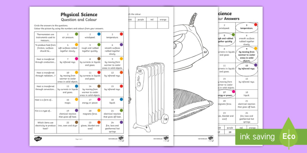 year 3 physical science questions and colouring worksheet activity sheets. Black Bedroom Furniture Sets. Home Design Ideas