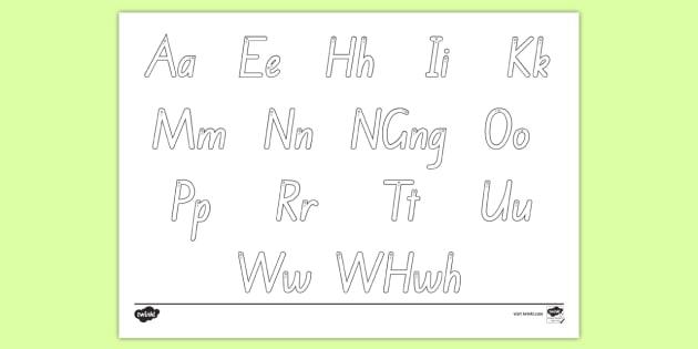 Alphabet Letter Formation Mat Te Reo Māori