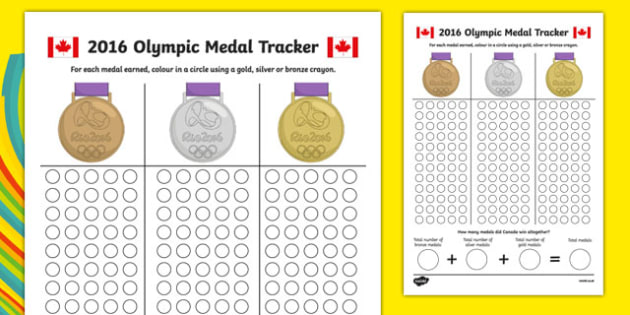 Canada Olympic Medal Count and Add Worksheet / Activity Sheet, worksheet