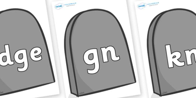 Silent Letters on Gravestones - Silent Letters, silent letter, letter blend, consonant, consonants, digraph, trigraph, A-Z letters, literacy, alphabet, letters, alternative sounds