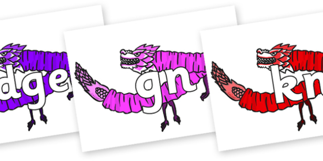 Silent Letters on Chinese Paper Dragons - Silent Letters, silent letter, letter blend, consonant, consonants, digraph, trigraph, A-Z letters, literacy, alphabet, letters, alternative sounds