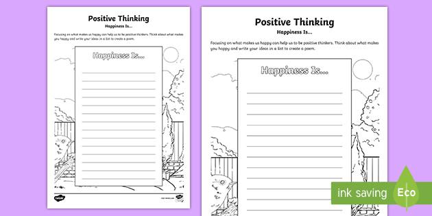 On thinking poem positive Poems On
