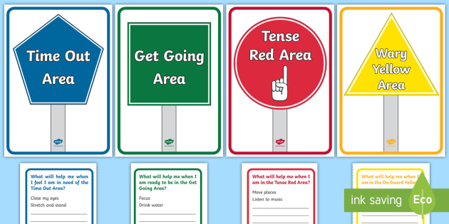 image about Zones of Regulation Printable titled Zones of Self-Law Exhibit Pack