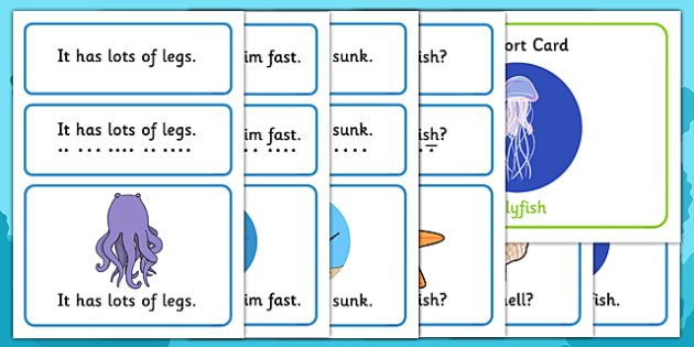 Under the Sea Simple Sentence Cards