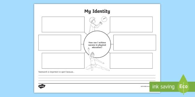 My Identity Mind Map Teacher Made