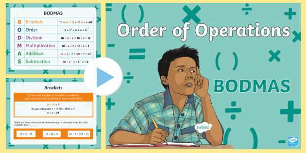 New * order of operations bodmas powerpoint mnu 2-03c, mathematical.