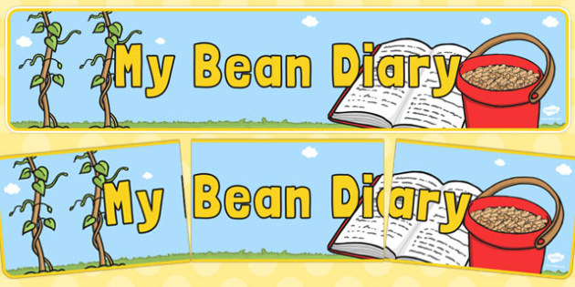 My Bean Diary Display Banner - my bean, diary, display banner