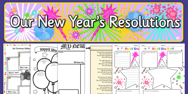 Years Resolution Resource Pack - new years, resolution, pack
