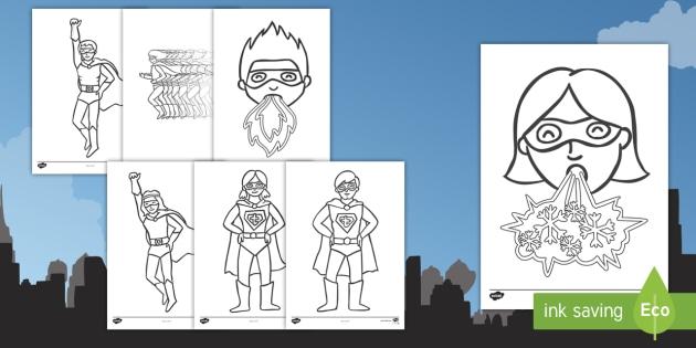 Superheroes Coloring Worksheet / Worksheets - superhero ...