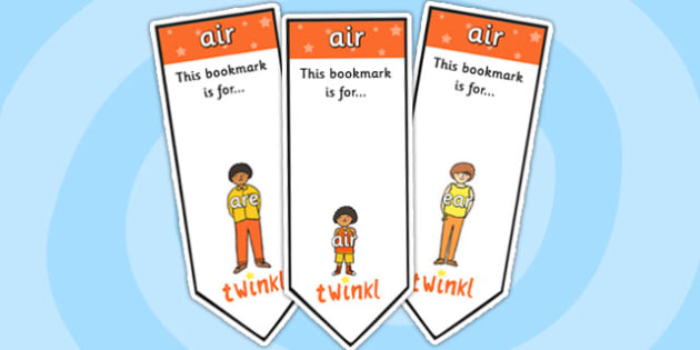 air Sound Family Editable Bookmarks - air sound family, editable bookmarks, bookmarks, editable, behaviour management, classroom management, rewards, award