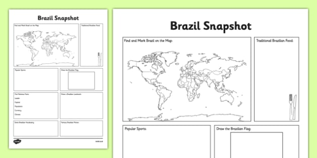 Brazil Snapshot - CfE, second level, fact file, people and place, Brazil, Olympics