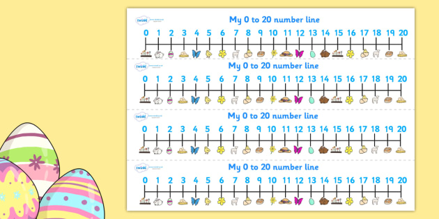 Easter Number Track (1-20) - Maths, Math, number track, Easter, numbertrack, Counting, Numberline, Number line, Counting on, Counting back