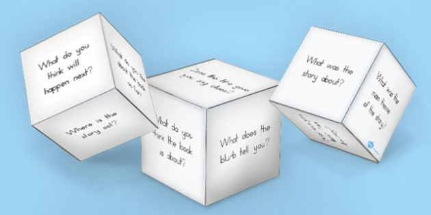 Reading Book Question Prompts Dice Template - australia, reading