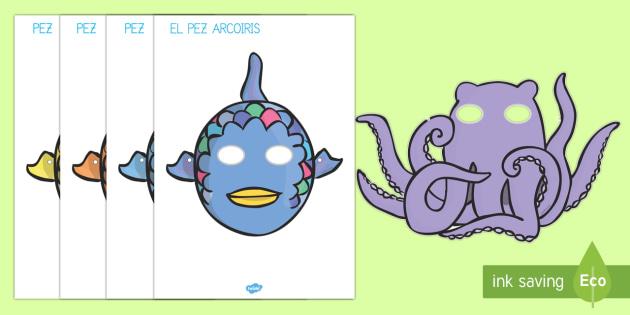 El pez arcoiris Máscaras de juego de rol