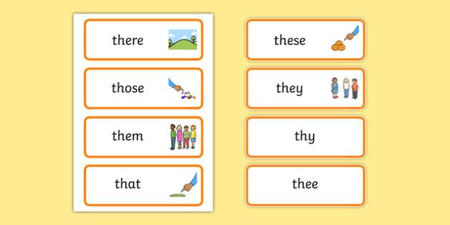 th Sound Word Cards - th sound, word cards, sounds, sound, cards