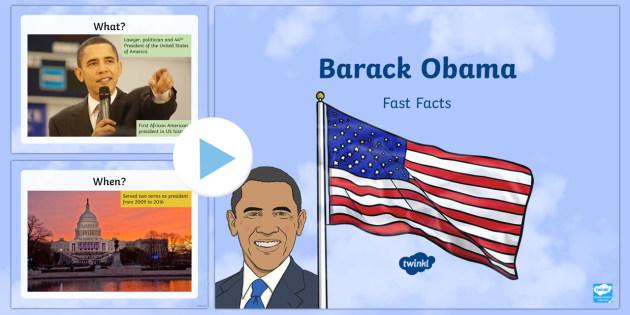 Barack Obama Fast Facts PowerPoint - American Presidents, American History, Social Studies, Barack Obama, Lyndon B. Johnson, Franklin D.