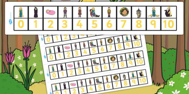 Rapunzel Number Track 0-10 - number track, rapunzel, 0-10, number