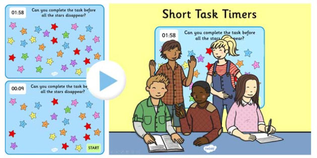 2 Minute Task Timer PowerPoint - powerpoint, task time powerpoint, 2 minute task times, two minute task timer, task timer, two minutes, stars, 2 minutes