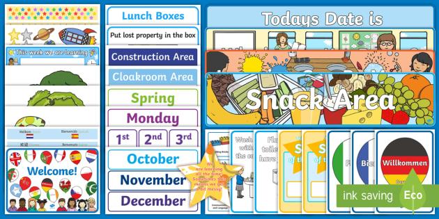 EYFS New Classroom Set Up Resource Pack - EYFS New Class Display