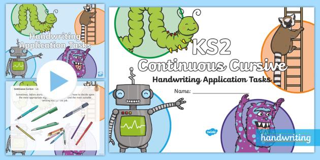 new ks2 continuous cursive handwriting application tasks resource pack. Black Bedroom Furniture Sets. Home Design Ideas