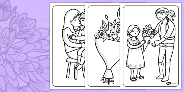 Mothers Day Colouring Sheets - mothers day, colouring, sheets
