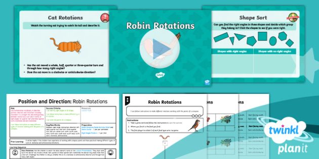 PlanIt Maths Y2 Position and Direction  Lesson Pack Turns, Rotations and Right Angles (3)