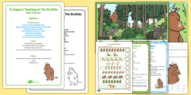 Quiet Time Box to Support Teaching on The Gruffalo - Julia Donaldson, EYFS