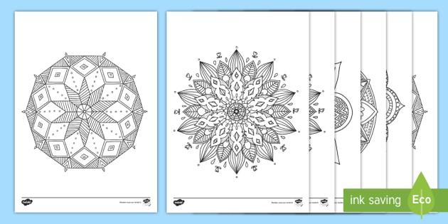 Feuilles De Coloriage Mandala Teacher Made