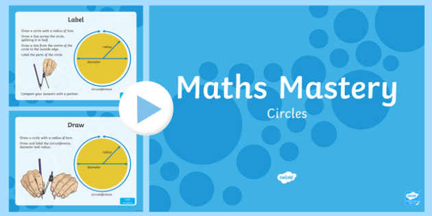 Year 6 Geometry Shape Circles Maths Mastery Activities PowerPoint