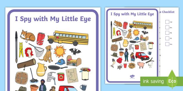 CVC Words I Spy with My Little Eye Activity - Phase 2 I Spy With My Little