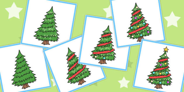 6 Step Sequencing Cards Christmas Tree - Sequencing, Xmas, Tree