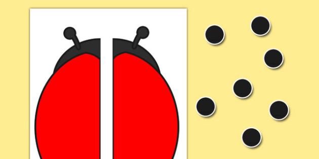 Blank Ladybird Number Bonds Activity - blank, ladybird, number bonds, activity
