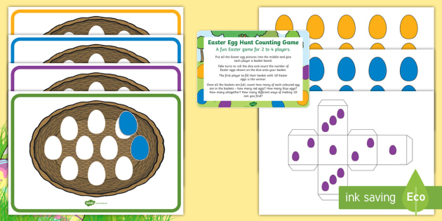 Easter Egg Hunt Counting Game - EYFS, Early Years, KS1 ...
