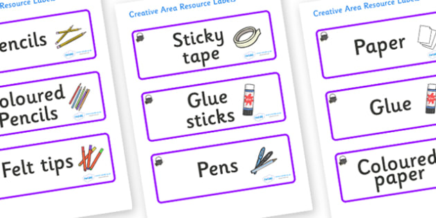 Magical Themed Editable Creative Area Resource Labels - Themed creative resource labels, Label template, Resource Label, Name Labels, Editable Labels, Drawer Labels, KS1 Labels, Foundation Labels, Foundation Stage Labels