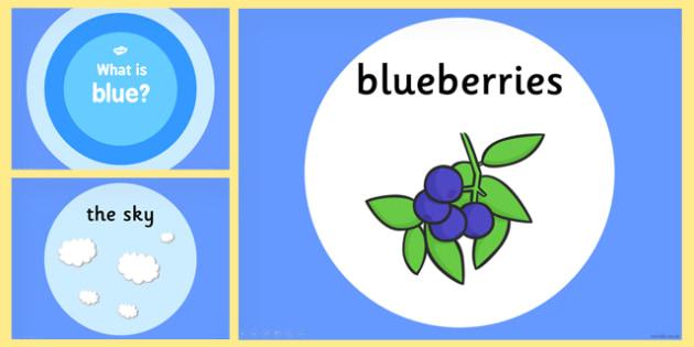 What is Blue Colour PowerPoint - powerpoints, information, colour