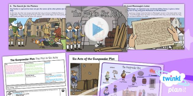 History: The Gunpowder Plot: The Plot in Six Acts KS1 Lesson Pack 5