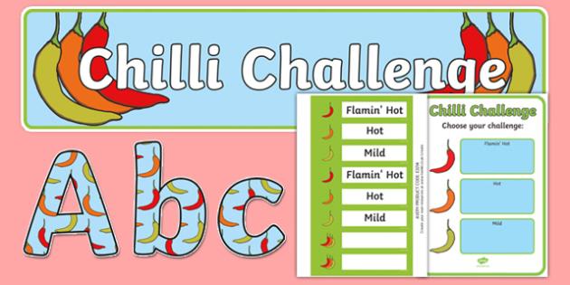 Chilli Challenge Display Pack - chilli challenge, display pack, display