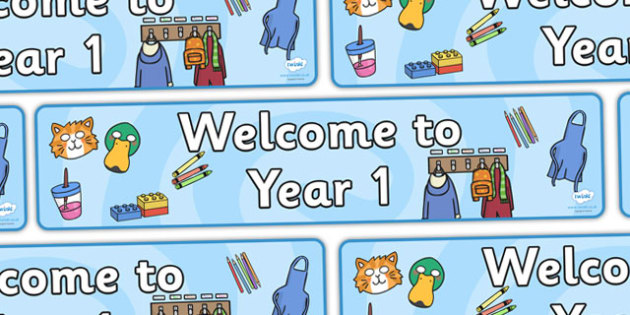 Year 1 Welcome Banner - Year One, welcome classroom sign, welcome, welcome sign, door sign, class sign, KS1 sign, class door sign