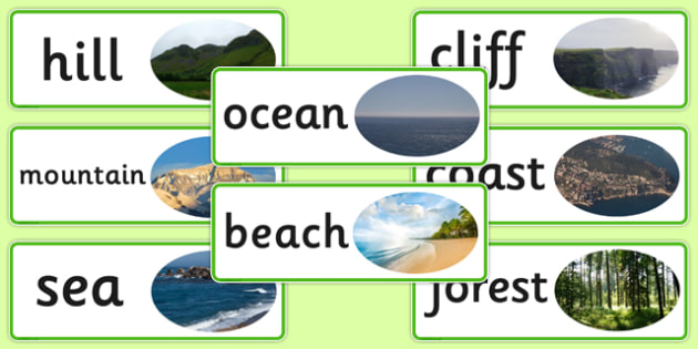 Human Geography Word Cards Natural - visual aids, cards, keywords